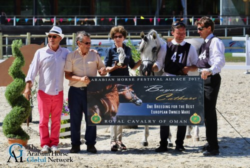 2017 Arabians Horse Festival Alsace Grand Est - honoring the Senior Champion Mare - photo by Millington Andersen